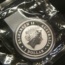 2011~~AUSTRALIA~KOOKABURRA SILVER DOLLAR~~BU-UNC BEAUTY~~LITTLETON PACKAGING