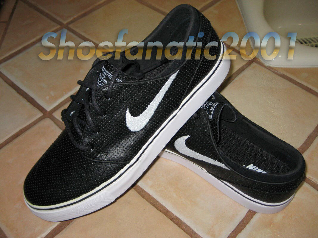 Nike SB Zoom Stefan Janoski Black Metallic Gold 10.5 482972-017 Perforated New shoes for men and women, limited time discount