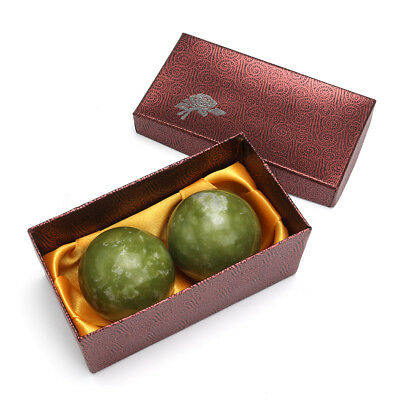 Chinese Health Exercise Stress Jade Stone BAODING Balls Relaxation Therapy 48mm