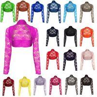 Ladies Womens Cropped Lace Shrug Ladies Bolero Plus Size a Lot Cardigan Top 8-18