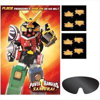 Power Rangers Samurai Party Game Poster Birthday Supplies Activity Saban's Red