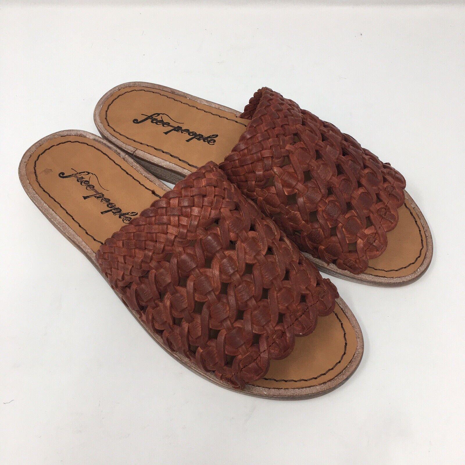 Free People röd Crossroads Slide Sandals Storlek 36 = = = 6 BRAND ny I BOX Sold Out  spara upp till 30-50% rabatt