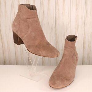 Steve Madden Beige Suede Ankle Boots Size 7 Womens Porcha Western 7 Medium