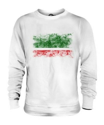 CHECHEN REPUBLIC DISTRESSED FLAG UNISEX SWEATER TOP FOOTBALL GIFT SHIRT CLOTHING