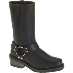 fa5b5fcecd6 Details about Harley Davidson Women's Hustin Waterproof Riding Boots D86007  £90 45% off RRP