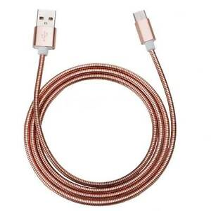 Spring-Metal-Fast-Charging-USB-Cable-Android-Rose-Gold
