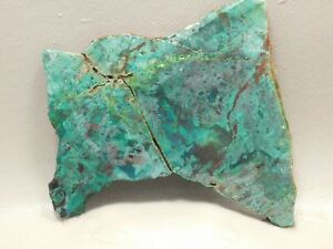 Parrot-Wing-Chrysocolla-Malachite-Unpolished-Stone-Lapidary-Slab-Cabbing-Rock-3