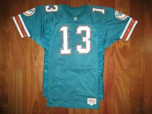 watch c9351 65dad Details about 92 Authentic Dolphins Dan Marino WILSON jersey 44 PRO