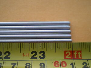 "15 STAINLESS STEEL ROUND ROD 304, 5/32"" (.156"") (4MM.) X 24"" LONG"