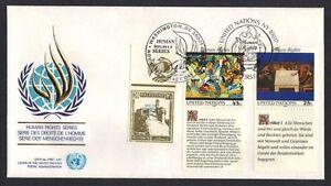 PALESTINE-UN-1989-HUMAN-RIGHT-UN-SET-ON-FDC-W-PALESTINE-INTIFADA-ISSUE-INSCRIBED