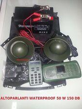 RICHIAMO DIGITALE ELETTRONICO 110CANTI, + 2 ALTOPARL TROMBA ,TELECOMANDO E TIMER