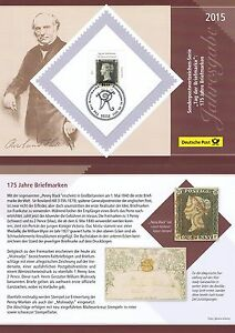 Fougueux Rfa 2015: Jahresgabe De La Deutsche Post Avec Nº 3173! Bonner Cachet Spécial! 1704-afficher Le Titre D'origine Beau Travail