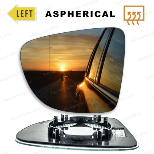 Left Passenger side wing mirror glass for Renault Zoe 2012-On wide angle heated