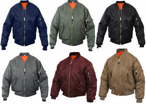 MA-1 Bomber Jacket Flight Coat Air Force Military Reversible