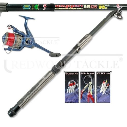 12ft Carbon Telescopic MackerelPredatorSea Spinning Fishing StarterTravel Kit