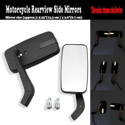 Motorcycle Swivel Rearview Side Mirrors For Suzuki Boulevard C50 C90 M50 S40 S83