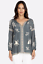JOHNNY-WAS-Embroidered-SOPHIA-PEASANT-BLOUSE-Tie-Neck-Gray-Tunic-XS-245 thumbnail 3
