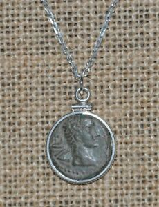 First-Roman-Emperor-Augustus-Authentic-Roman-Coin-Pendant-925-Silver-Necklace