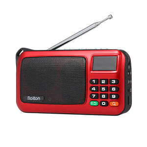 Rolton Portable Stereo Digital Transistor with Emergency Light USB S8I5