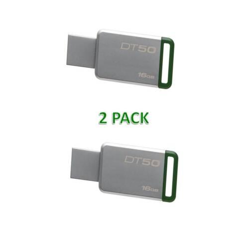 Kingston 16GB USB 3.0 Flash Drive Memory Datatraveler Metal 2 PACK