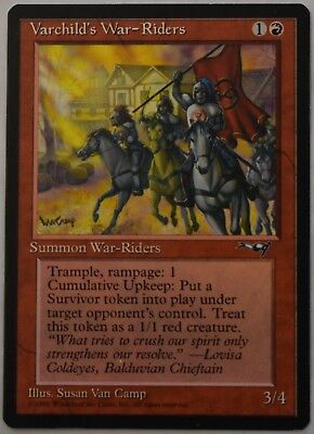 1 PLAYED Varchild/'s War-Riders Red Alliances Mtg Magic Rare 1x x1