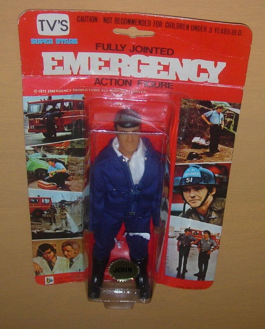 LJN urgence John Gage figurine cardées 1976 TV Scellé