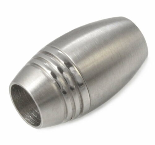 V05 Edelstahl Magnet Verschluss Ø 6 mm Leder Armband Halskette Schmuck Collier