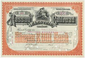 1896-Nassau-Electric-Railroad-Company-Stock-Certificate-New-York