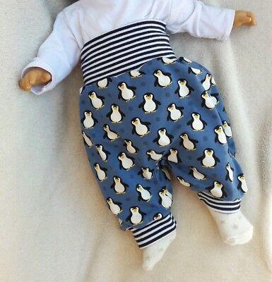 Baby Pumphose 50 56 62 68 74 80 86 92 Sterne Hellblau Weiß handmade DaWanda