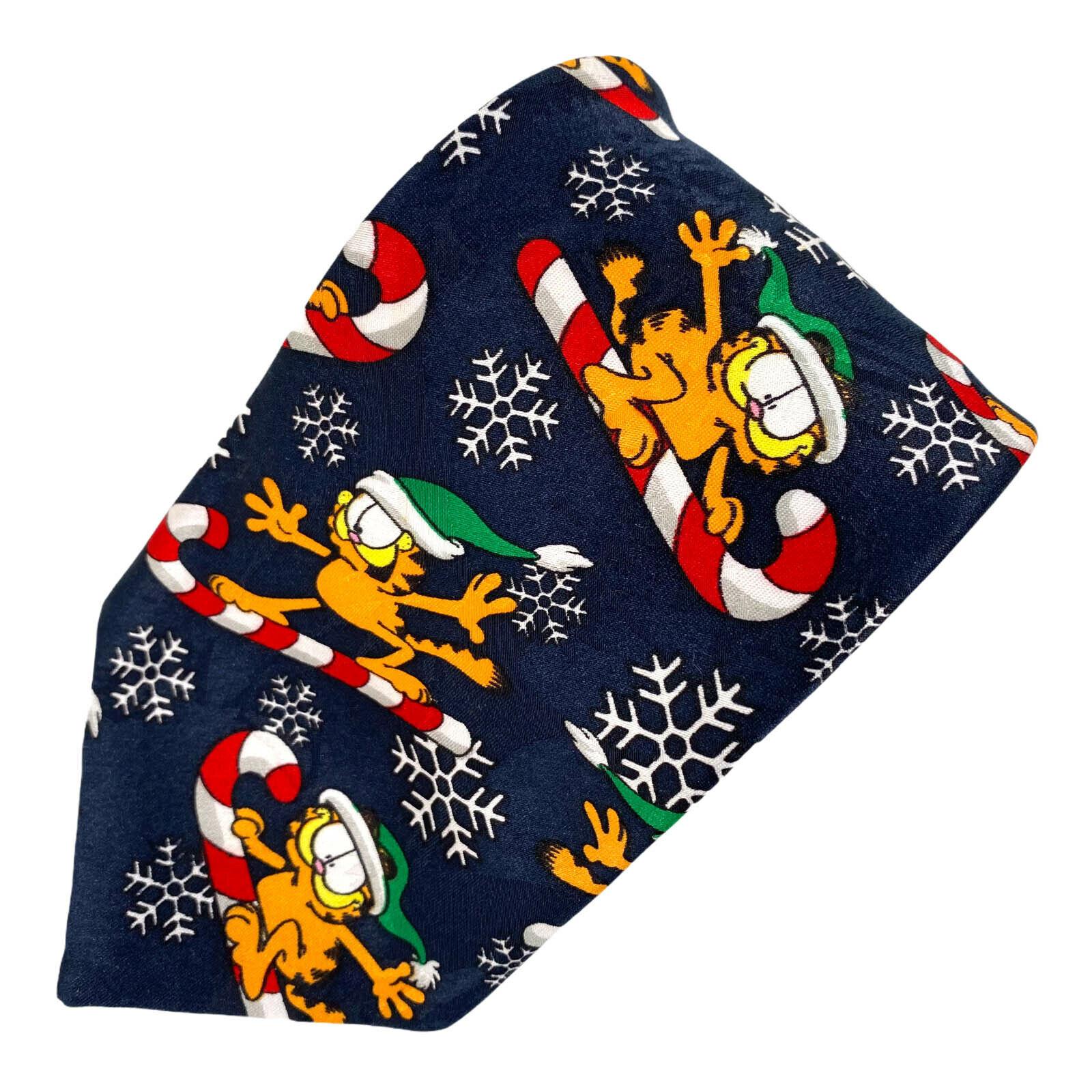 Tatzen Addiction Garfield Reiten Candy Stange Schneeflocken Weihnachten Krawatte