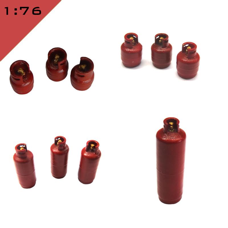 1:87 OO//HO Railway Scenery 5 x 3D printed LPG BOTTLES GAS CYLINDERS 1:72 1:76