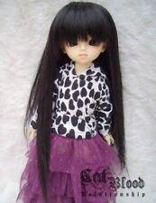 "6-7"" 1/6 BJD wig YOSD Dollfie hair black straight AOD DK DZ DL AF DOD Luts Volks"