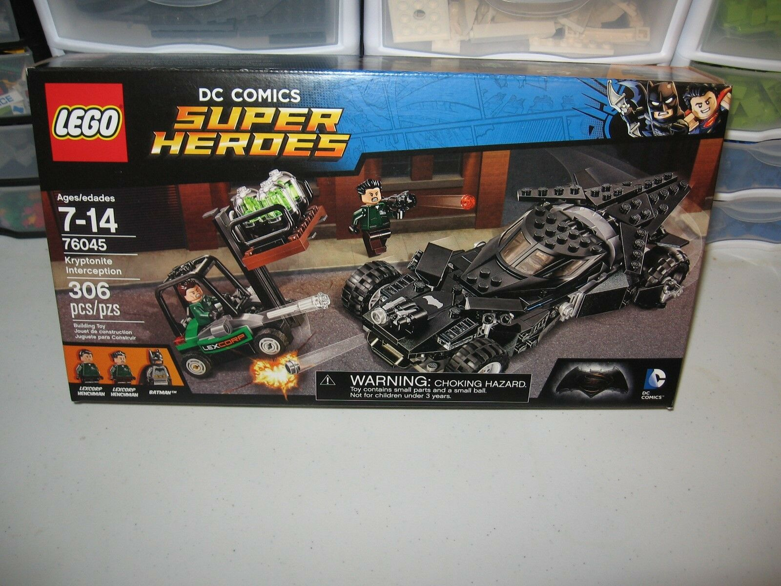 LEGO DC COMICS SUPER HEROS  KRYPTONITE INTERCEPTION  76045,   NEW