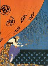 """Chic ORIGINALE Erte Art Deco Print """"LE STAGIONI-FALL"""" FASHION BOOK Piastra"""