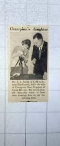 Champion Mr Kidbrooke con figlia Shoemaker sua Blackheath 1953 Anne Smith A x4qZHRT