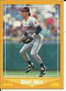 1988 SCORE Baseball Card #567 of 660 Tommy Hinzo INDIANS