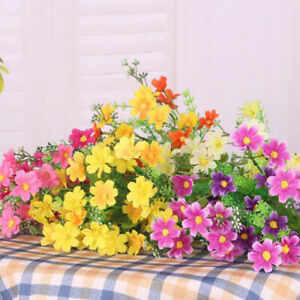 28 Heads Outdoor Flower Fake False Plants Grass Artificial Garden Daisy Decor DY