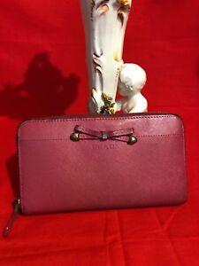 6fecafd971e51f 100% Authentic PRADA Pink Ribbon Saffiano Leather Zip Around Clutch ...