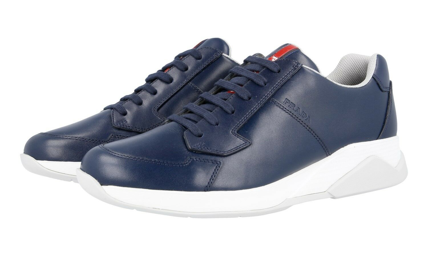 AUTHENTIC LUXURY PRADA SNEAKERS SHOES 4E2807 blueE NEW 6 40 40,5