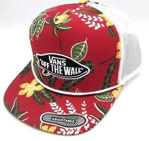 2ff01f6e95 Vans Off The Wall Surf Patch Adjustable Trucker Hat Mens Tropical ...