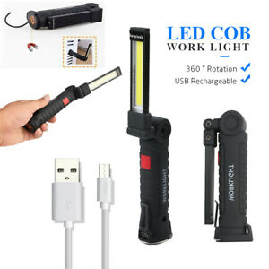 Rechargeable-COB-LED-Slim-Work-Light-Lamp-Flashlight-Inspect-Folding-Torch-18650