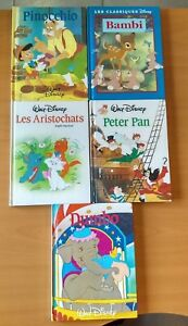 Details Sur Lot De 5 Livres Walt Disney France Loisirs Dumbo Bambi Peter Pan Etc