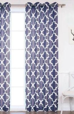 Printed Voile Sheer Window Curtain