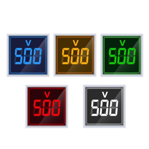 New Square Intelligent Voltmeter 22MM AC 20-500V Voltmeter Panel LED Digital