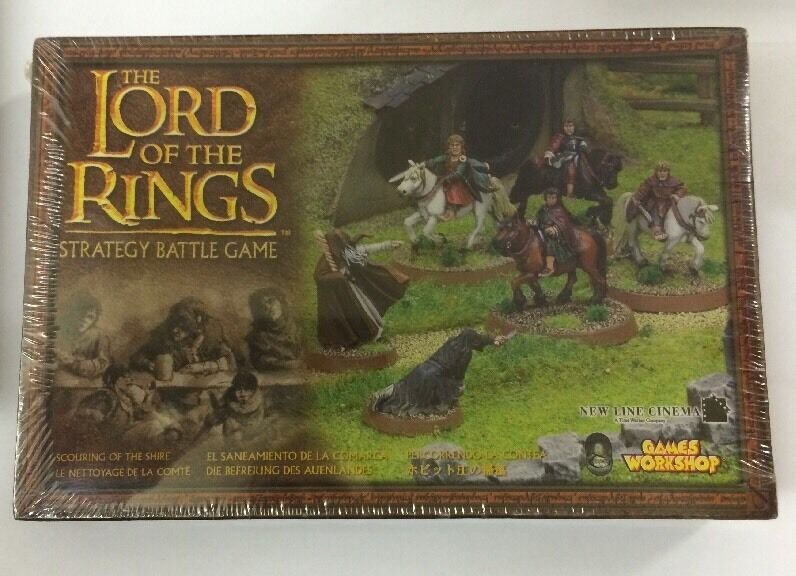 Warhammer LoTR Scouring of the Shire Mounted Hobbit Nazrul Metal Sealed