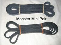 Pair Of 45lb Power Lifting Bands Crossfit Resistance Crossfit Lifting 1/2 Black