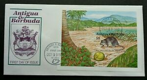Antigua and Barbuda West Indies Giant Rice Rat 1989 Coconut Fauna Mouse (FDC)
