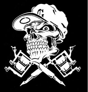 Image Is Loading High Detail Airbrush Stencil Tatto Skull FREE UK