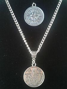 Tetragrammaton pentagram zodiac 2 sided pendant good luck amulet image is loading tetragrammaton pentagram zodiac 2 sided pendant good luck aloadofball Choice Image