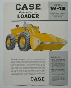 CASE-Loader-W-12-1960s-dealer-sheet-brochure-English-USA